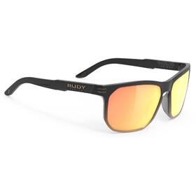 Rudy Project Soundrise Brille black fade bronze matte/multilaser orange